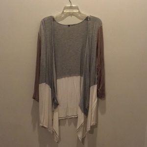 Sweaters - Tri-tone cardigan